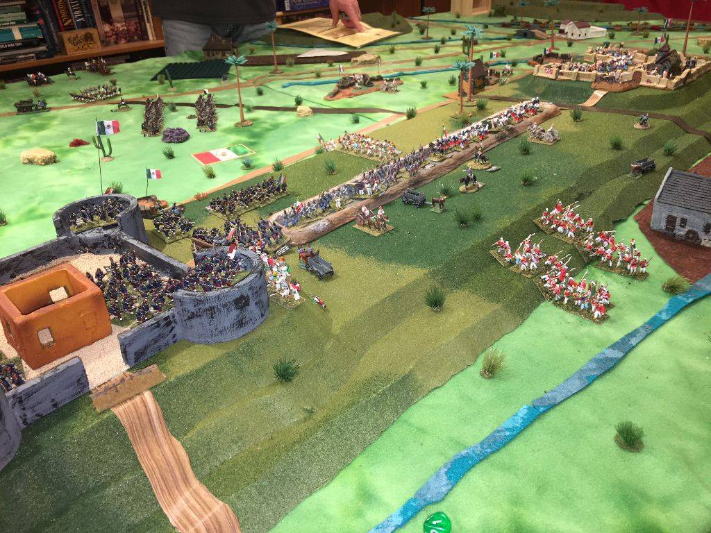 overview of teh Mexican position awaiting the French advance