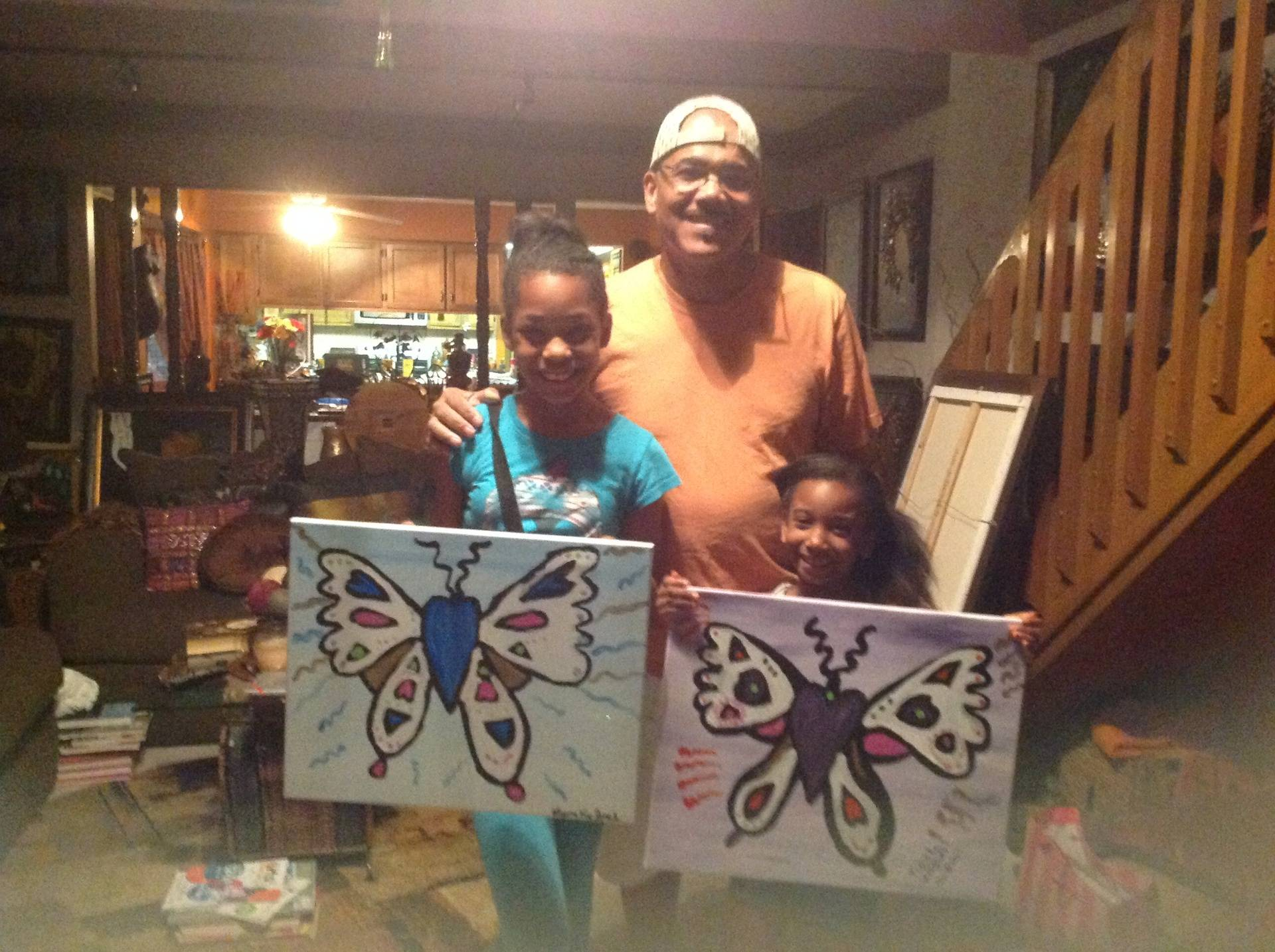 Butterflies with Grand dad