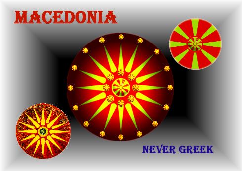 Macedonia Never Greek - Flag Artwork