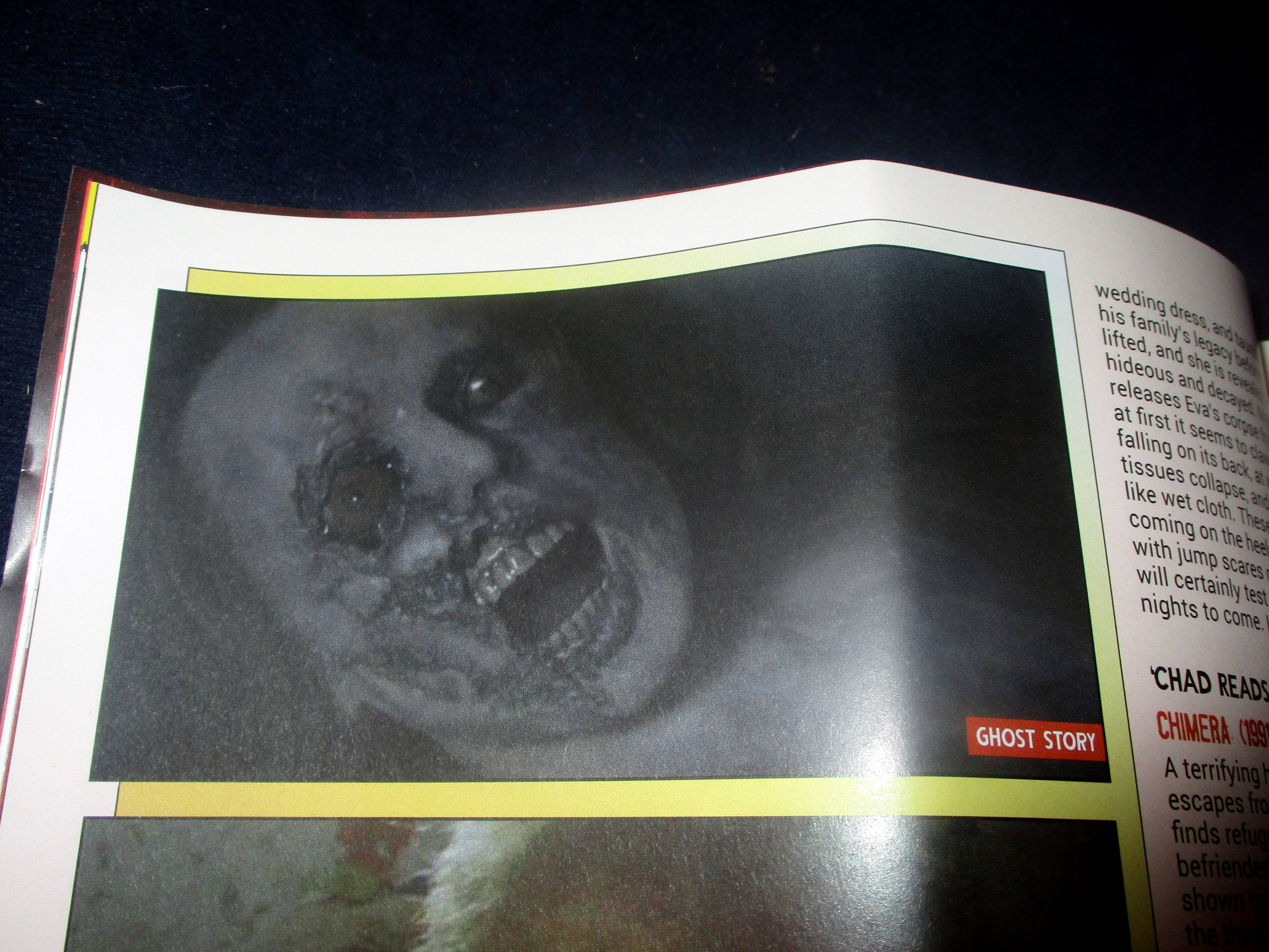 Photo Accompanying Eva's Corpse in Everyone's Entitled to One Good Scare in Starburst Magazine #474: Everyone's Entitled to One Good Scare Collectors' Edition at The Wombatorium 2.0: A Capital Idea