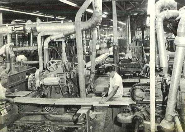 The Conveyor Line for Sides and Topes at the Curtis Mathes Plant in Athens Texas in 1961