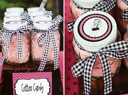 Cotton candy filled favors