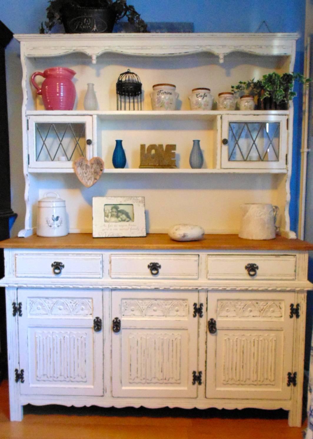 Wonderful Linenfold Dresser in F & B Slipper Satin