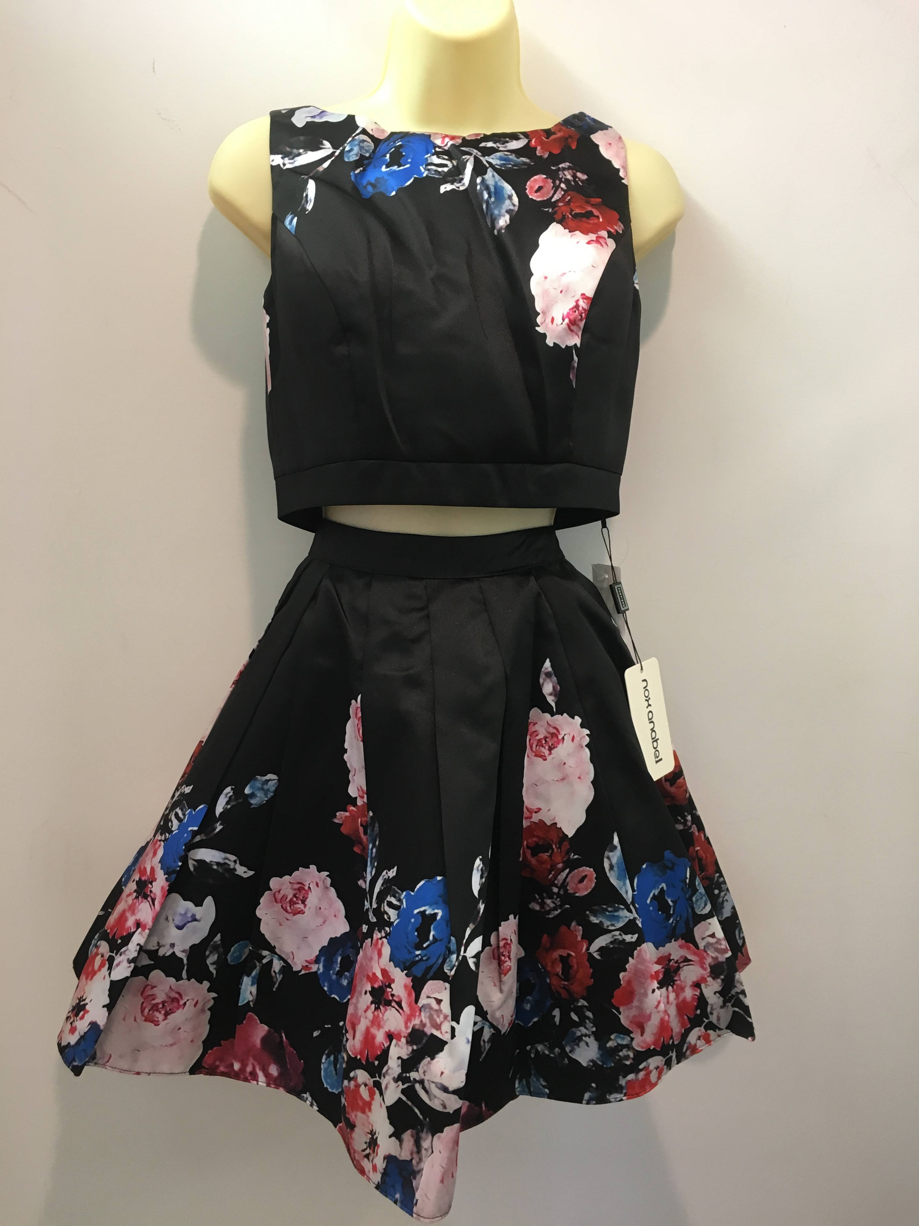 NEW WITH TAGS SHORT FLORAL PRINT TWO PIECE DRESS