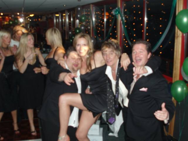 Rod Stewart, Penny Lancater and Bell & Spurling