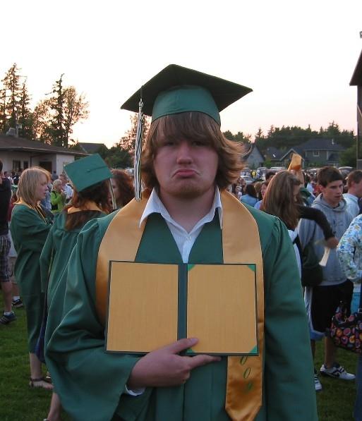 Kyle with empty folder