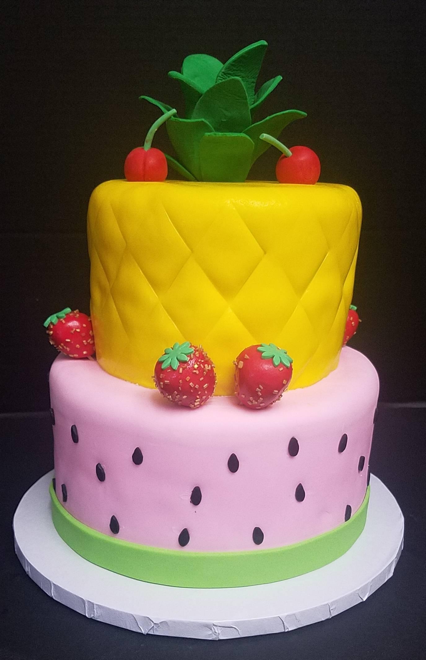 Pineapple/Watermelon Cake