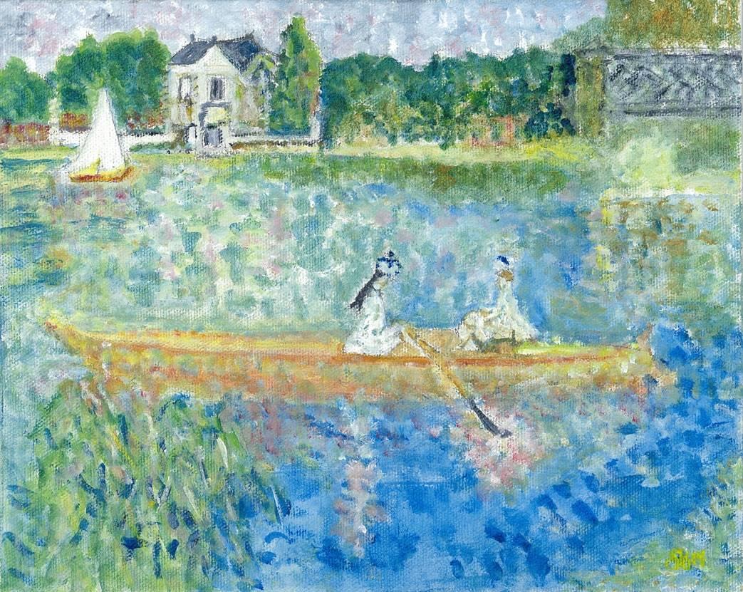Interpretation of Boating on the Seine by Renior
