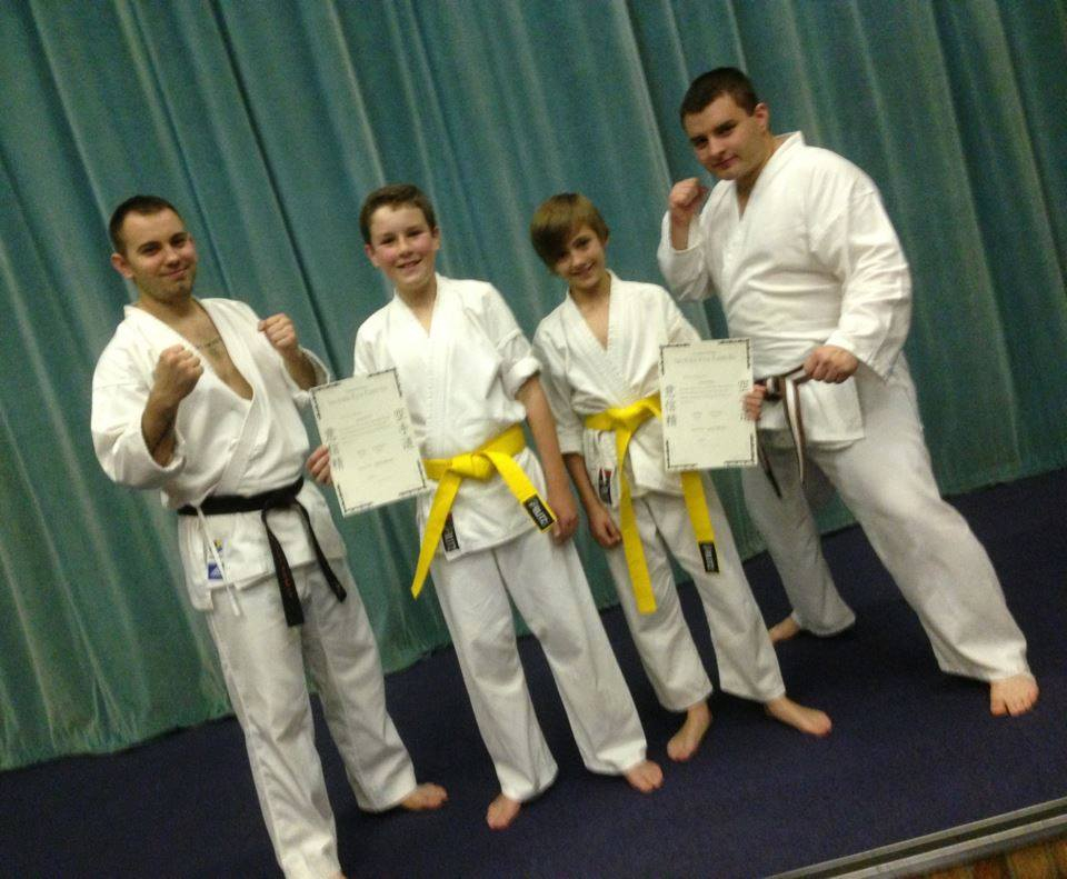 Joe and lewis with Ash and Richy