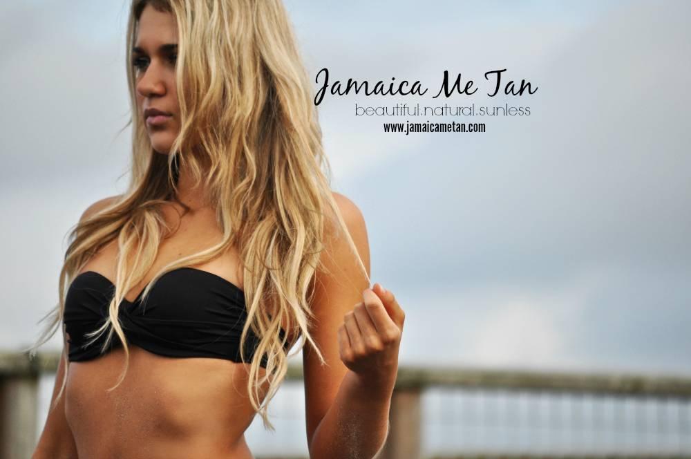 Jolie wearing her Jamaica Me Tan airbrush tan sprayed by Mandy