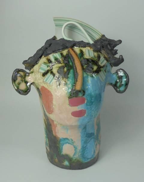 Mary Jones Ceramics.  I caught his eye.