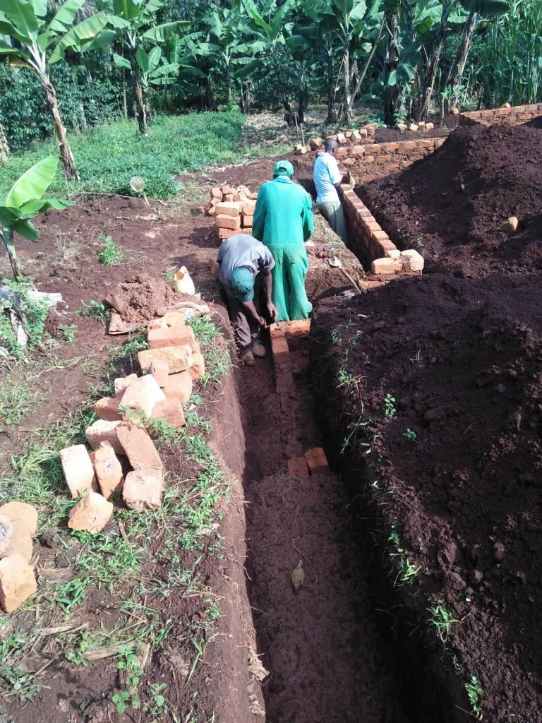 Building a home for the orphans in Ogembo, Kenya