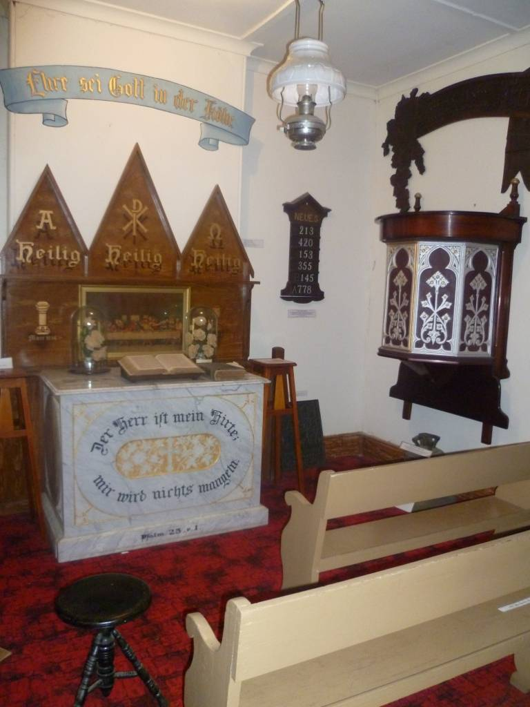 Part of the church room display