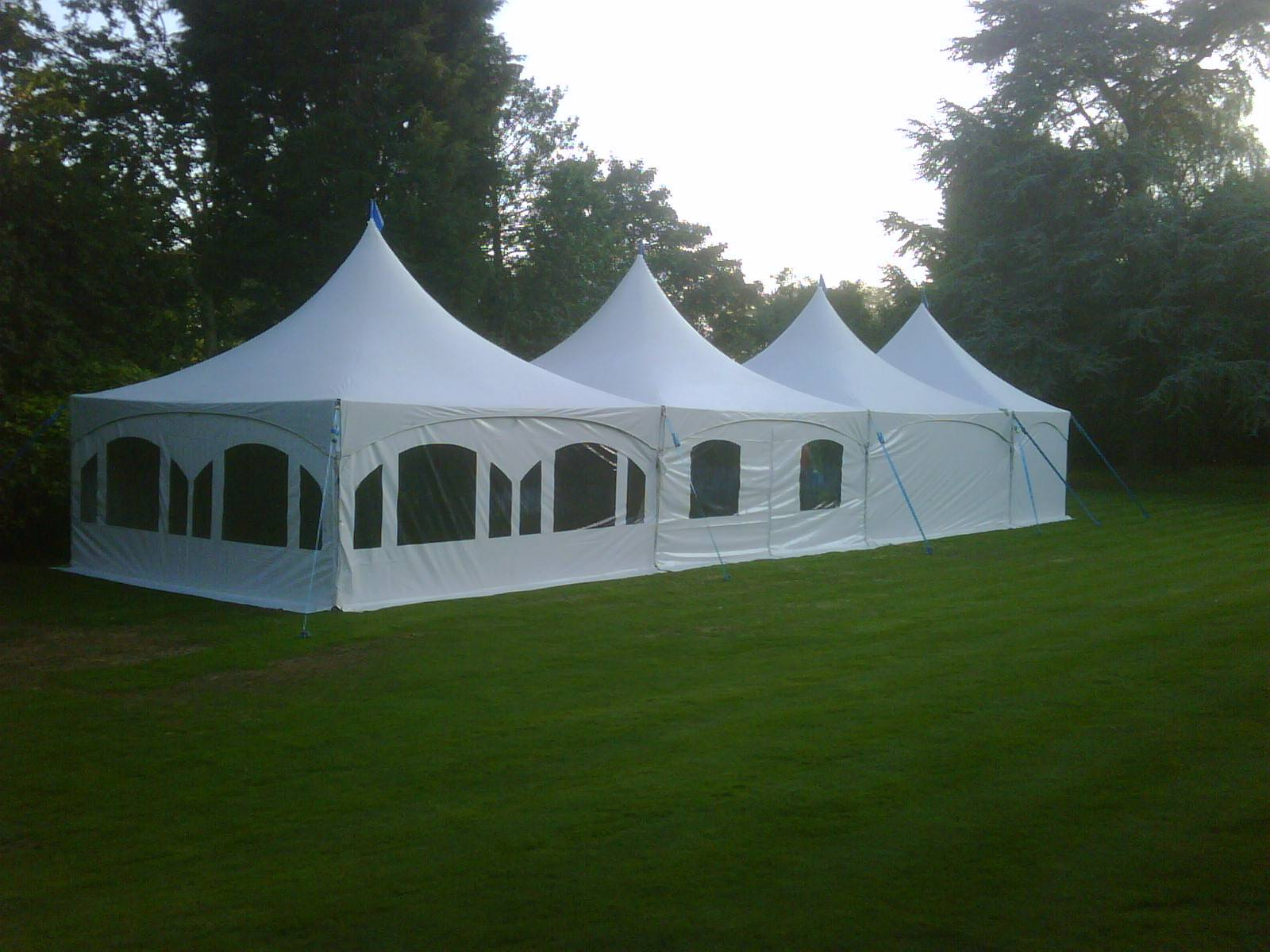 6x21m marquee at the red brick barn in rochford