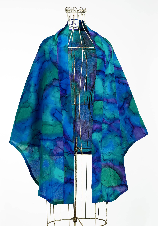 Softly Draped Silk Wrap