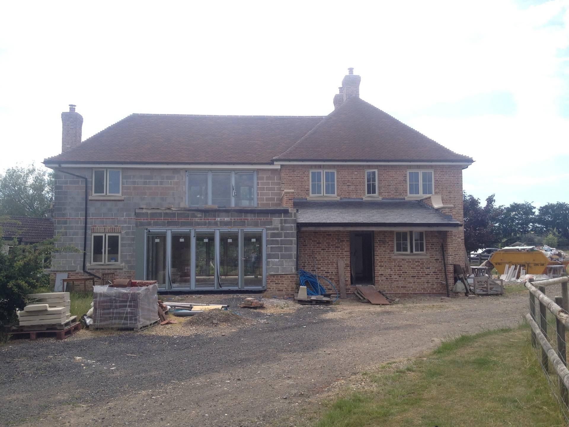 New build in Berwick St James, Wiltshire 2015