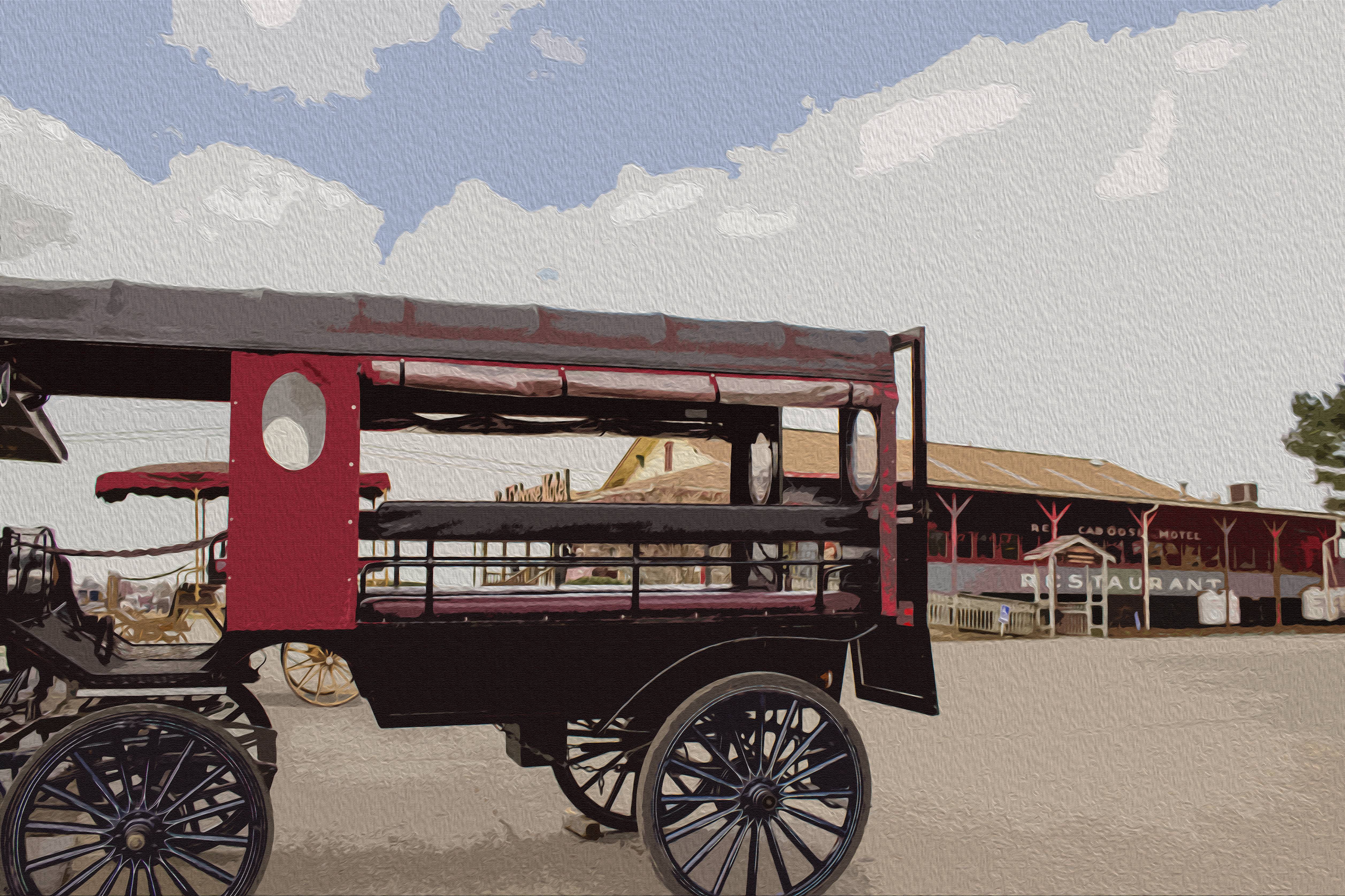 Horse wagon Oil Painting