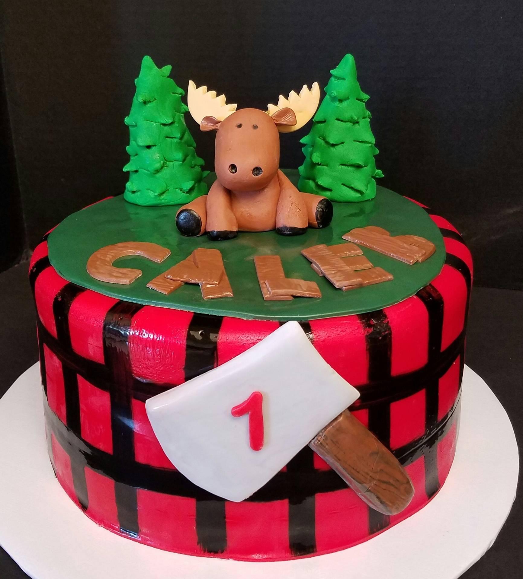 Lumberjack Moose Cake