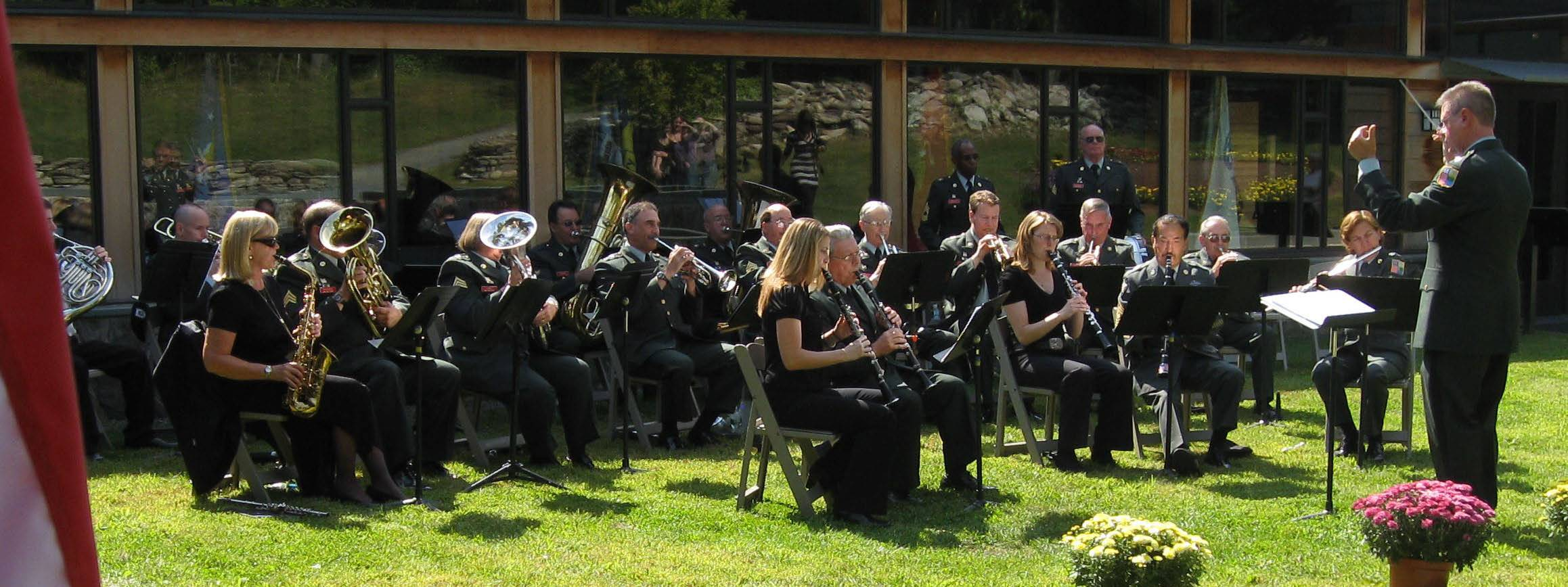 Conducting the 89th Army Band, New York Guard