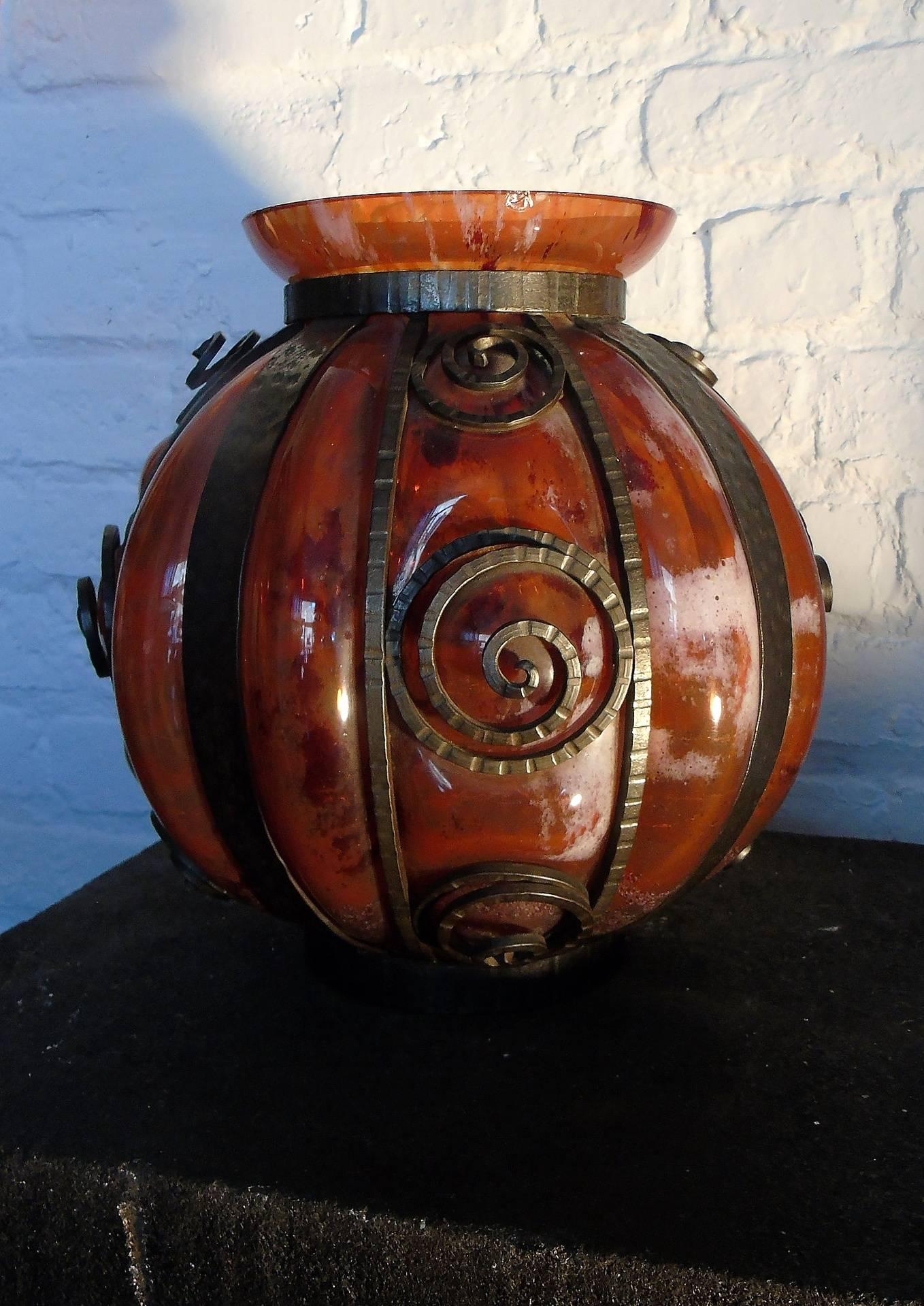 Vase de la verrerie d'art de Lorraine