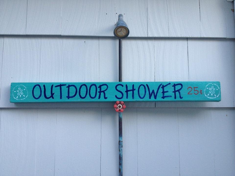 Outdoor Shower Sign