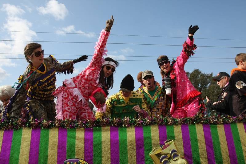 One of the floats from the Chicken Run Parade