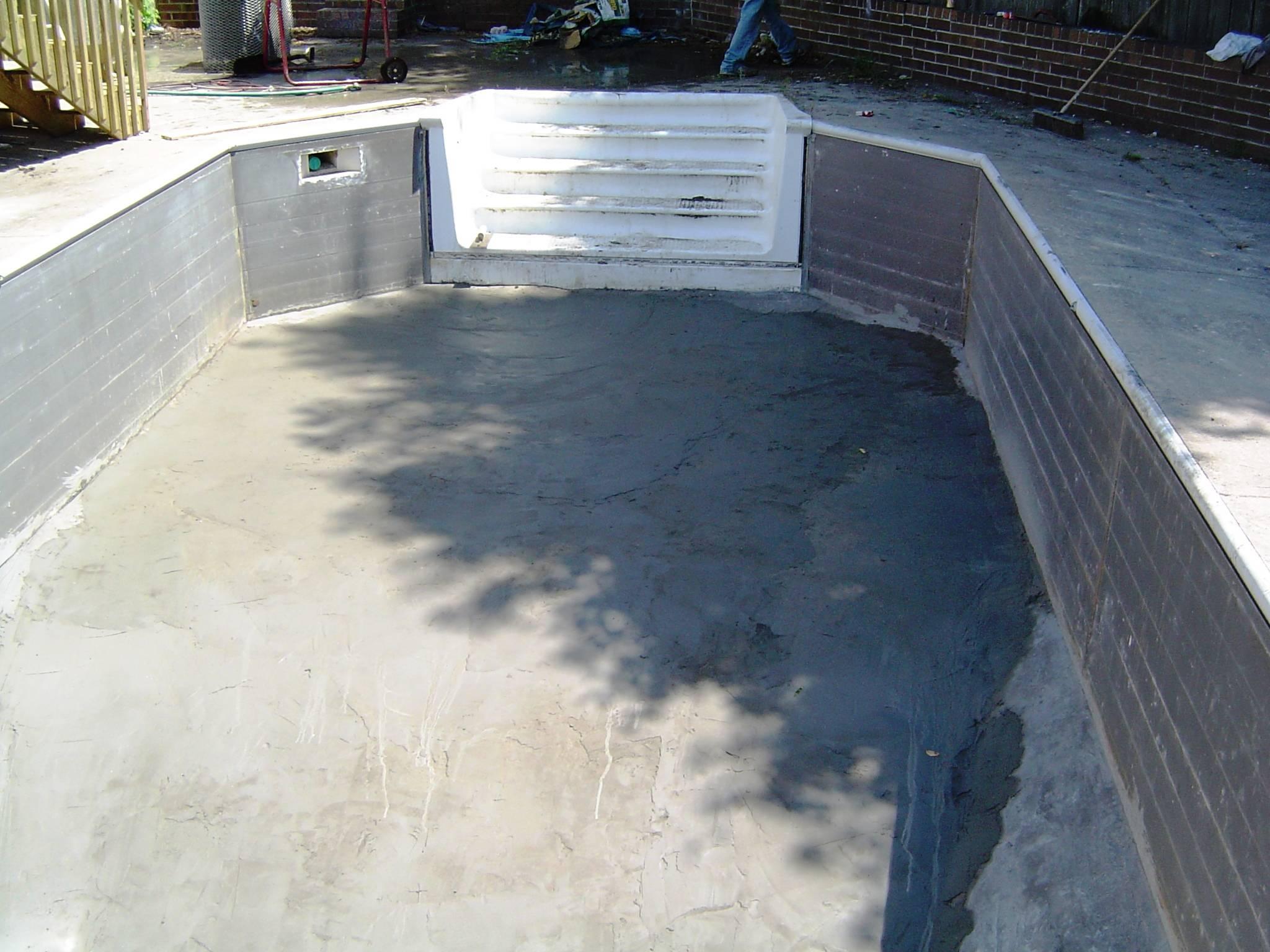pool half done