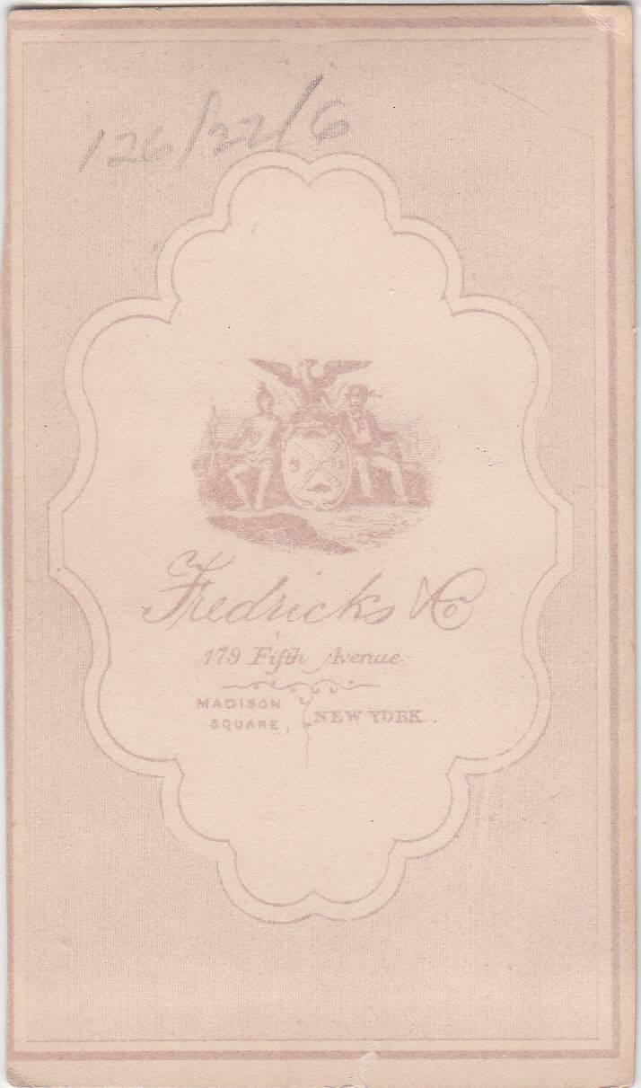 Fredricks & Co. of New York, NY - back