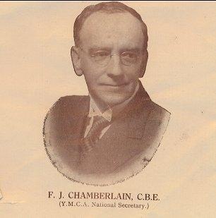 FT Chamberlain CBE YMCA National Secretary