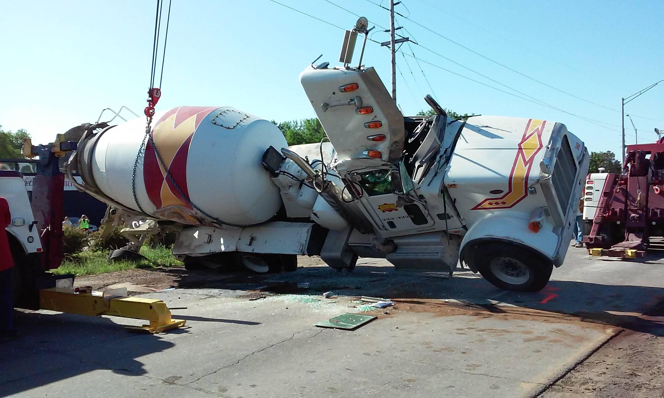 Cement Truck Rollover, 6-4-16