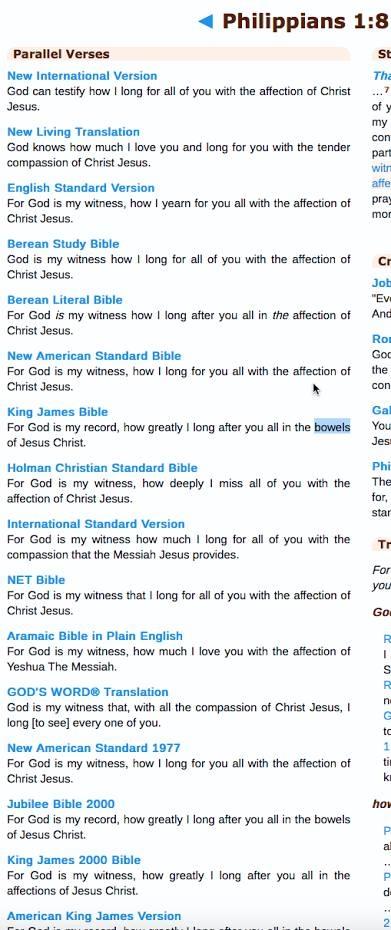 Phil, 1:8 KJV Bible