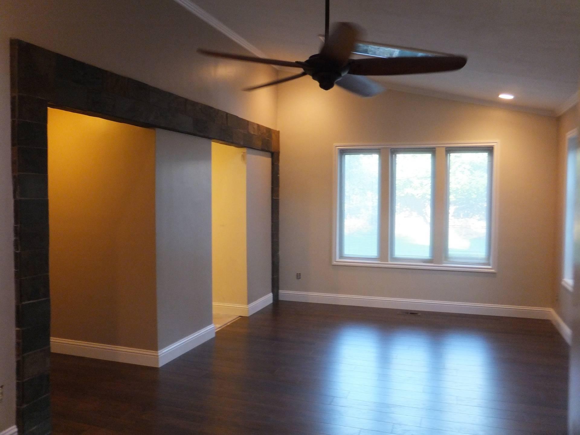 AFTER - Master Bedroom Remodel (Slate Columns