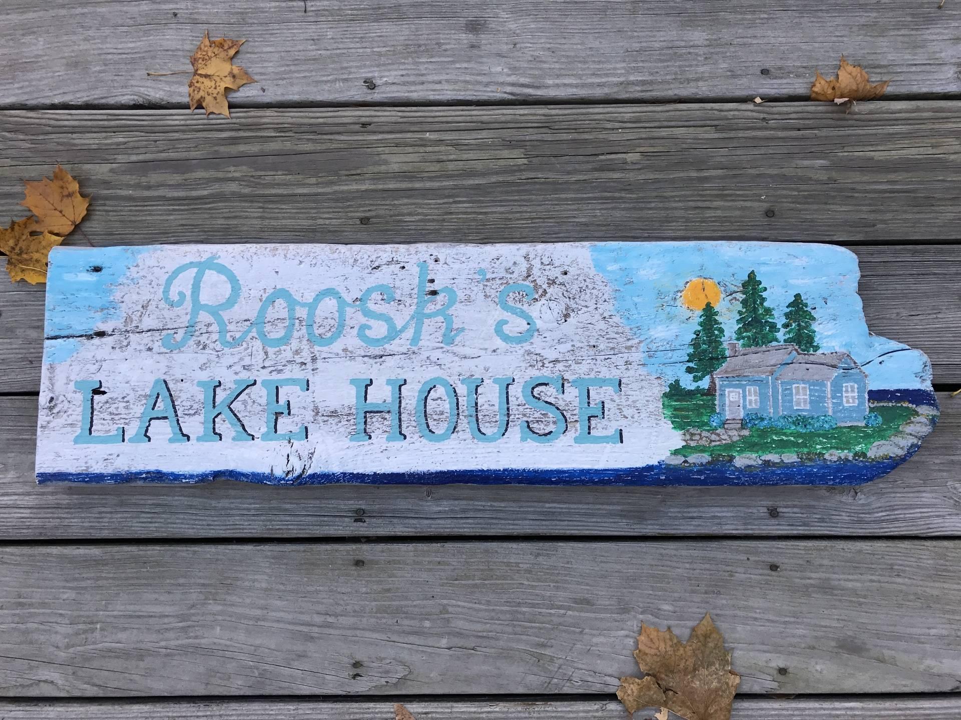 Lake House Family Name sign