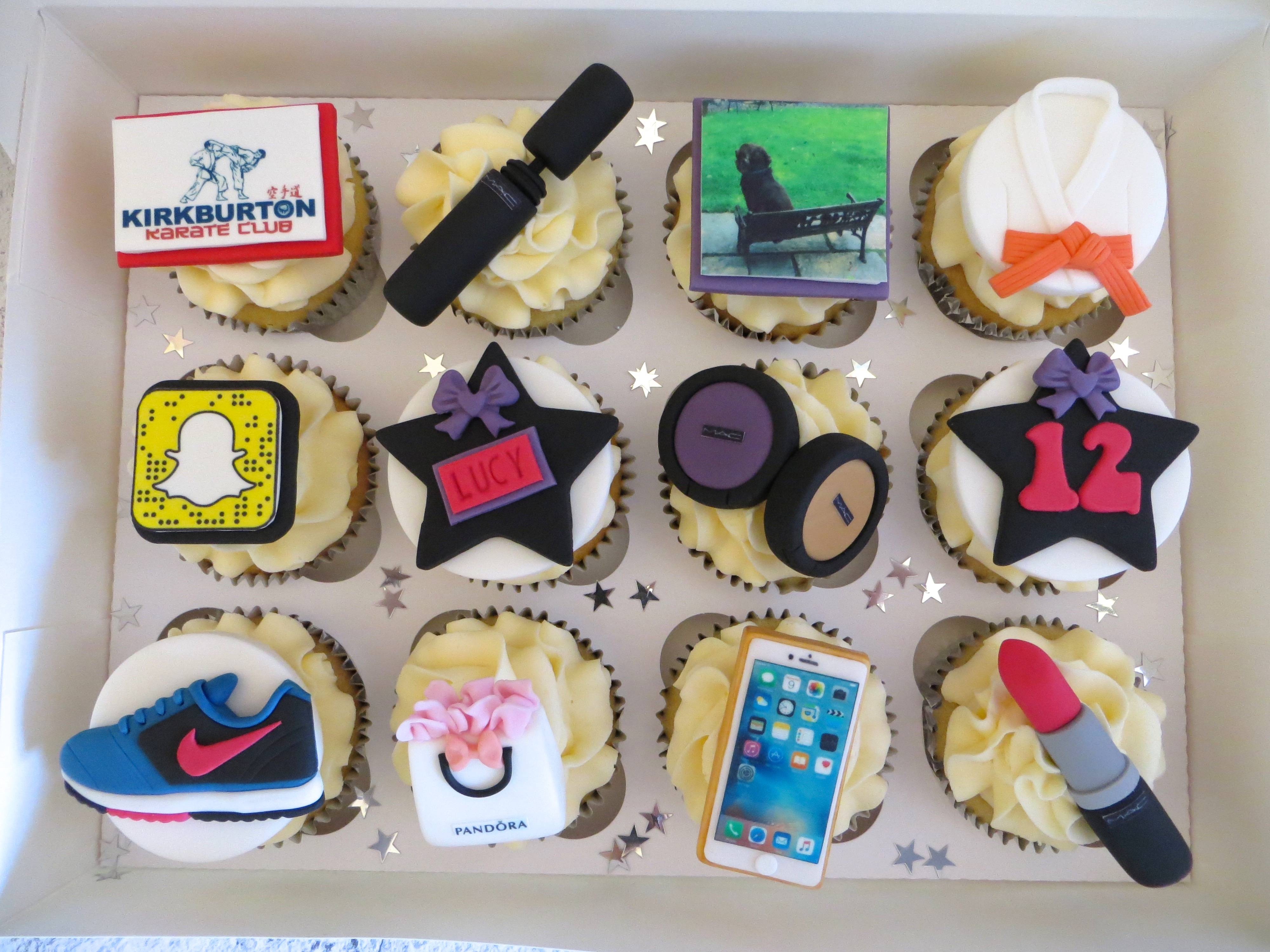 Lucy's 12th Birthday Personalised Cupcakes