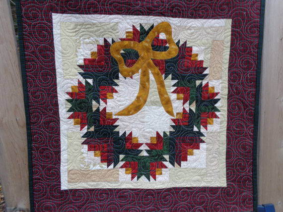 Christmas Wreath with bow Quilt