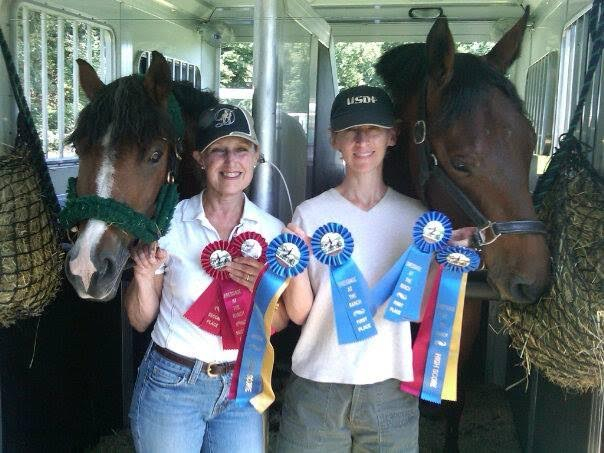 Reilly, Karen, Lee and Dex at Dressage at the Ranch