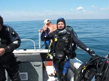 Diver John in Erieau