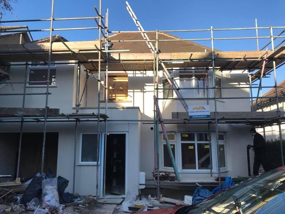Erect scaffolding