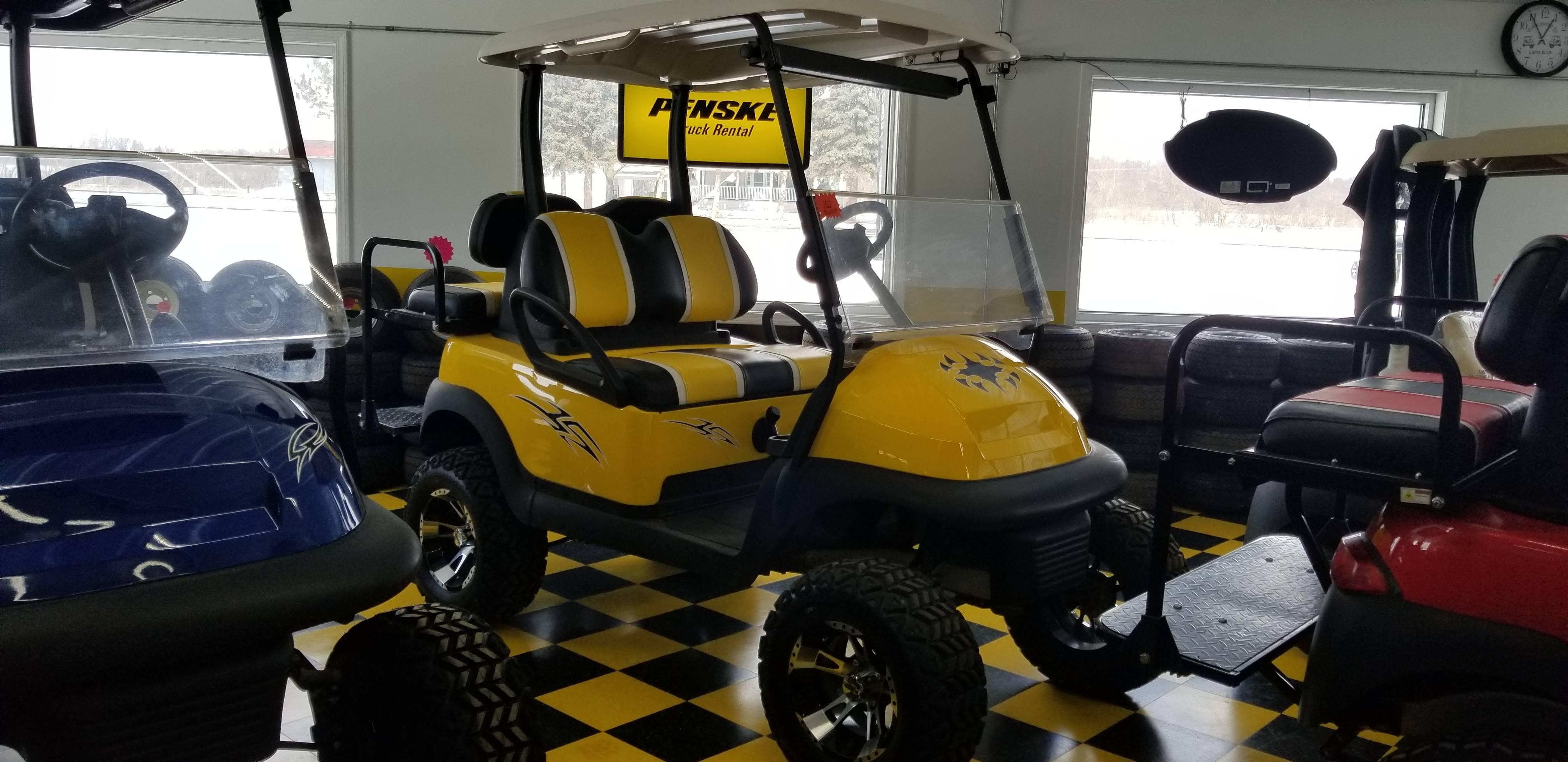 Club Car Precedent Black/Yellow/White