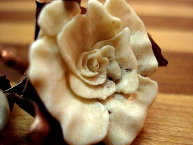 Deer Antler & Copper Rose Detail 2