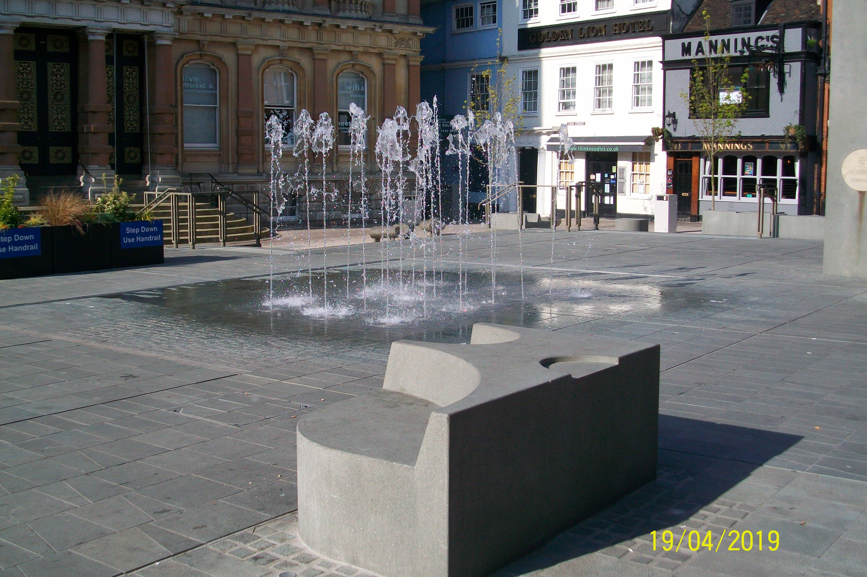 Cornhill - New Fountains Outside Town Hall