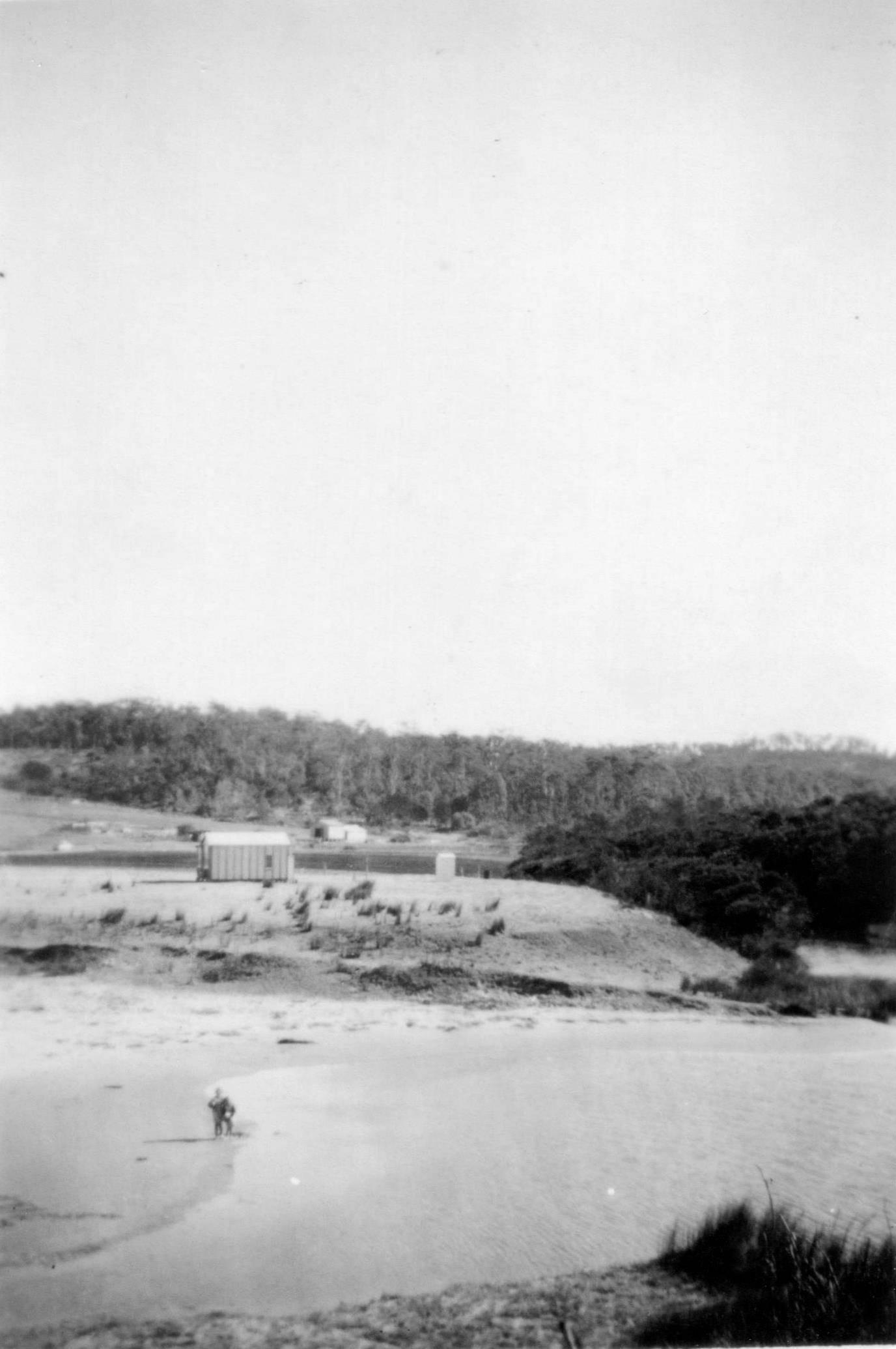 Looking Across the Creek to Kuppa Avenue, 1951