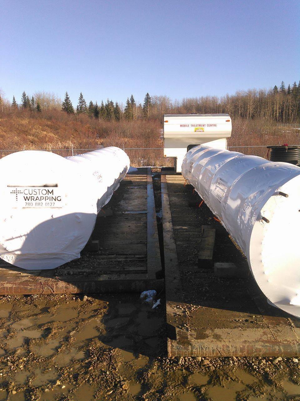 two exchangers shrink wrapped for shipping!