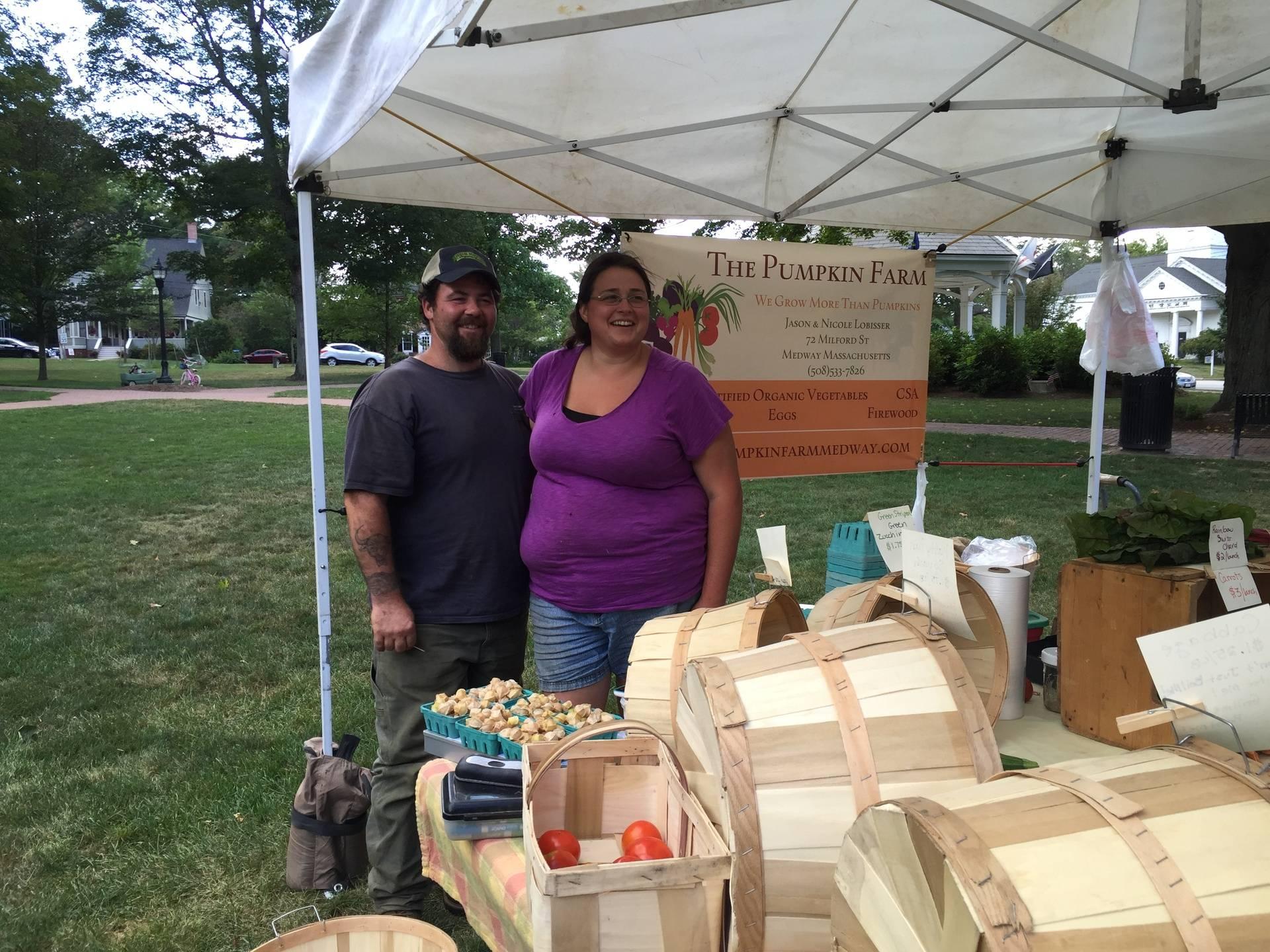 Jason and Nicole Lobisser from the Pumpkin Farm