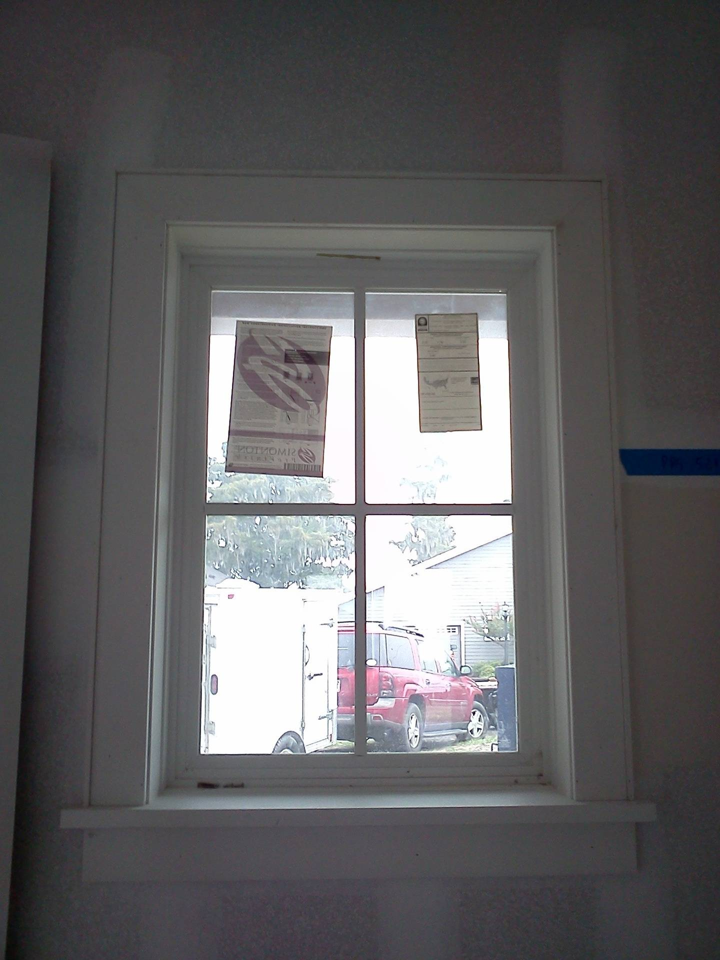 Window Sill and Trim