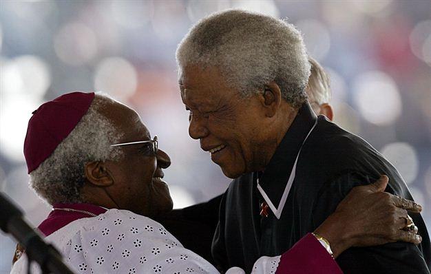 Mandela and Desmond Tutu
