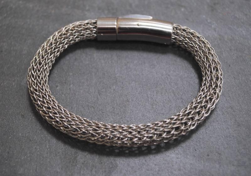 Stainless Steel viking knit bracelet.