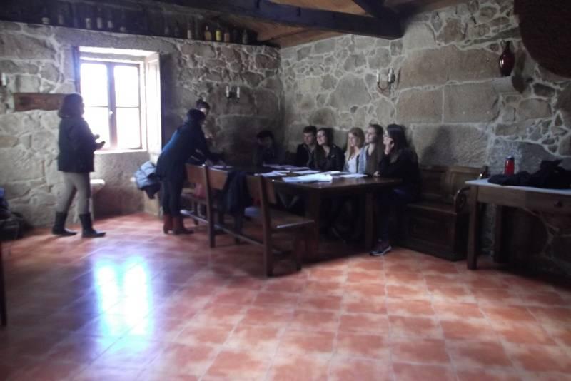 Students working in Spanish activities