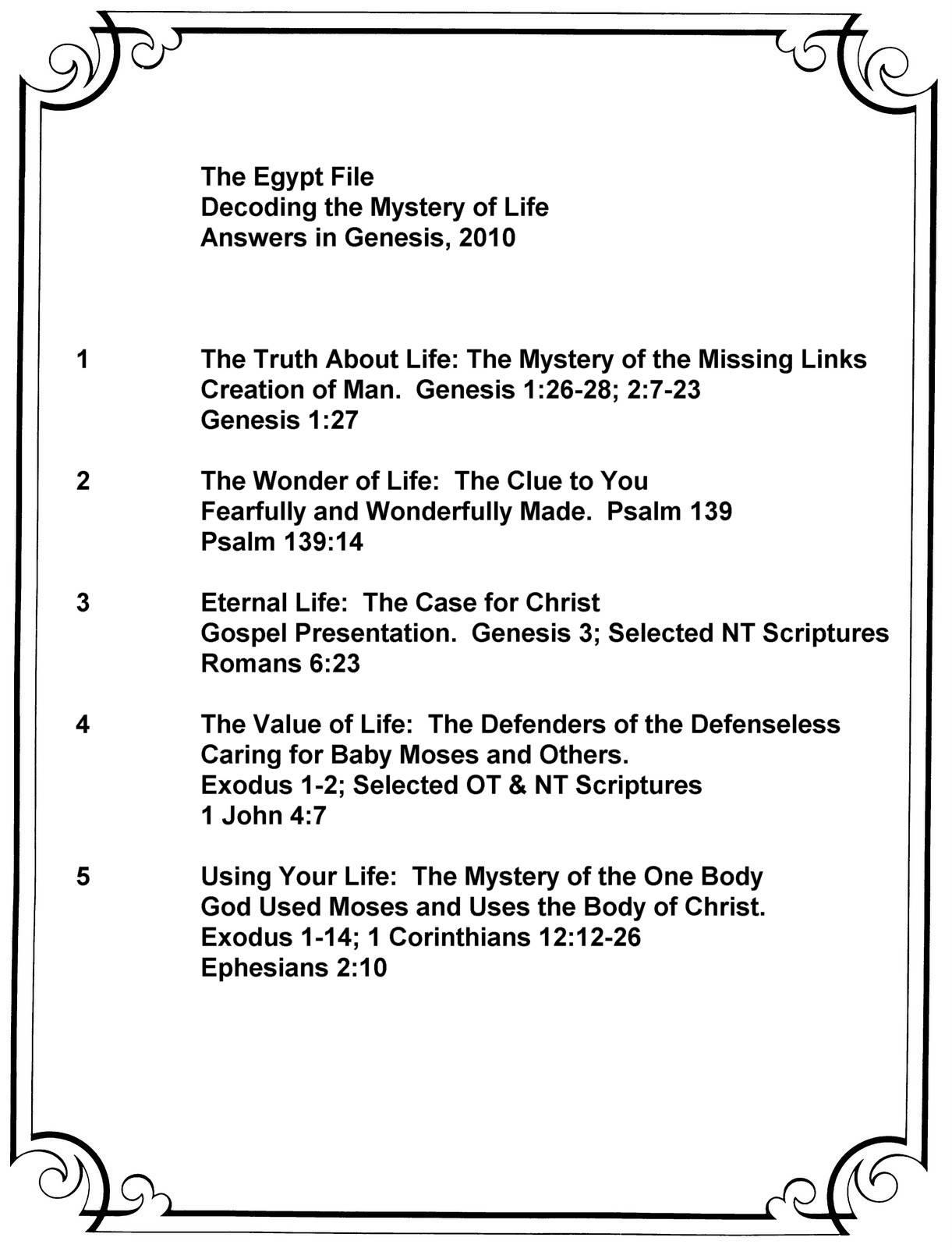 The Egypt File Summary