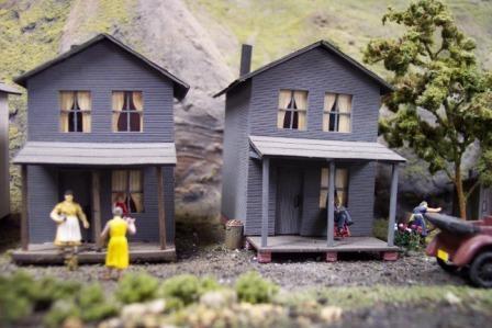 Company houses near the coal mine